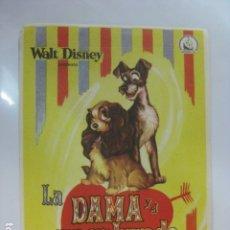 Cine: LA DAMA Y EL VAGABUNDO - FOLLETO MANO ORIGINAL - WALT DISNEY DIPENFA. Lote 182684681