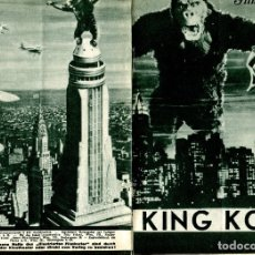 Flyers Publicitaires de films Anciens: KING KONG, CON FAY WRAY. PROGRAMA ALEMÁN DE 4 HOJAS DE 15 X 23 CMS... Lote 182693712