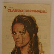 Cine: PROGRAMA DE CINE EL DIA DE LA LECHUZA. Lote 182876941