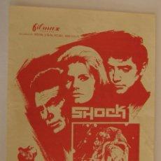 Flyers Publicitaires de films Anciens: PROGRAMA DE CINE SHOCK. Lote 182877212