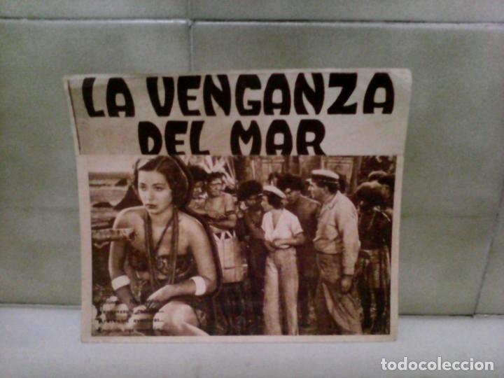 PROGRAMA CINE LA VENGANZA DEL MAR (Cine - Folletos de Mano - Bélicas)