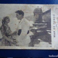 Cine: MAR DE FONDO PROGRAMA TARJETA FOX GEORGE O'BRIEN MONA MARIS - CINEMA POMPEYA - VALENCIA. Lote 182955981
