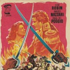 Cine: PROGRAMA DE CINE – LOS SUBLEVADOS DE LOMANACH – DANI ROBIN – EMPRESA RECREO - 1956. Lote 182980136