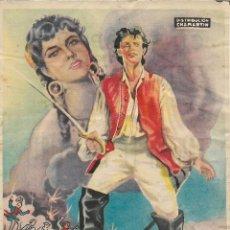 Cine: PROGRAMA DE CINE – FANFAN EL INVENCIBLE – GINA LOLLOBRIGIDA – CINE ESPAÑOL - 1955. Lote 182980773