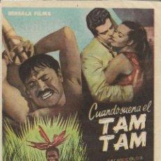 Cine: PROGRAMA DE CINE – CUANDO SUENA EL TAM TAM – MARCELLO MASTROIANNI – TEATRO BARTRINA - 1958. Lote 182980920