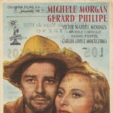 Cine: PROGRAMA DE CINE – LOS ORGULLOSOS – MICHELE MORGAN – TEATRO ARGENSOLA - 1956. Lote 182981166