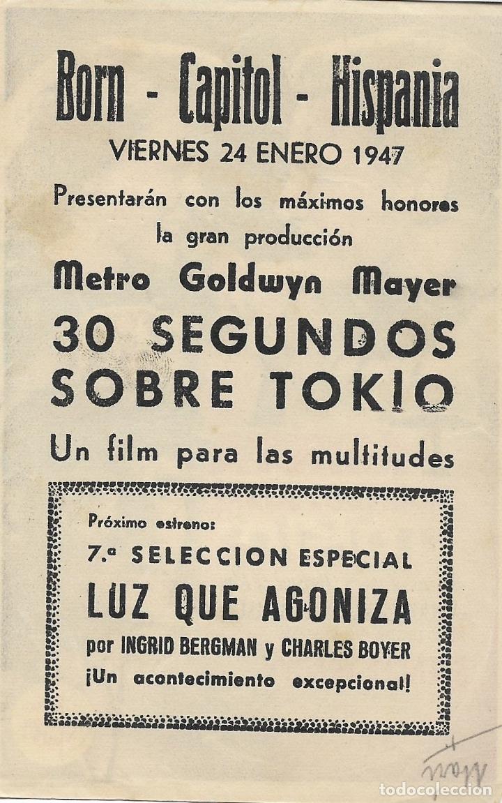 Cine: PROGRAMA DE CINE – TREINTA SEGUNDOS SOBRE TOKIO – SPENCER TRACY – BORN, CAPITOL, HISPANIA - 194 - Foto 2 - 182982548
