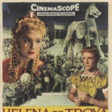 Cine: PROGRAMA DE CINE – HELENA DE TROYA – ROSSANA PODESTA – CAPITOL – TARRAGONA - 1959. Lote 182983446