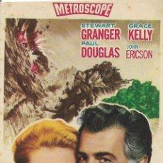 Cine: PROGRAMA DE CINE – FUEGO VERDE – GRACE KELLY – MGM – S/P . Lote 182983558