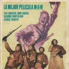 Cine: PROGRAMA DE CINE – FUEGO EN LA NIEVE – RICARDO MONTALBAN – MGM – S/P - 1952. Lote 182983768