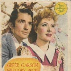 Cine: PROGRAMA DE CINE – EL VALLE DEL DESTINO – GREGORY PECK – MGM – S/P . Lote 182983826