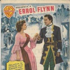 Cine: PROGRAMA DE CINE – EL SEÑOR DE BALANTRY – ERROL FLYNN – MODERNO – TARRAGONA - 1955. Lote 182983938