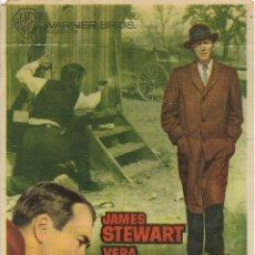 Cine: PROGRAMA DE CINE – F.B.I. CONTRA EL IMPERIO DEL CRIMEN – JAMES STEWART – CINE TEATRO TARRAGONA . Lote 182984056