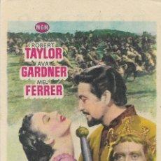 Cine: PROGRAMA DE CINE – LOS CABALLEROS DEL REY ARTURO – ROBERT TAYLOR – MODERNO – TARRAGONA - 1955. Lote 182984287