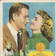 Cine: PROGRAMA DE CINE – UN CONFLICTO EN CADA ESQUINA – JOHN WAYNE – CINE BONIFAZ – SANTANDER - 1955. Lote 182984373
