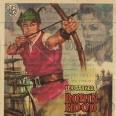 Cine: PROGRAMA DE CINE – ROBIN HOOD Y LOS PIRATAS – LEX BARKER – MODERNO – TARRAGONA - 1961. Lote 182984450