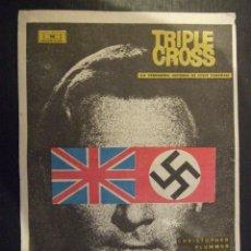 Cine: TRIPLE CROSS - SIMPLE CON PUBLICIDAD CINE TROPICAL MALGRAT DE MAR - DOBLEZ BUEN ESTADO. Lote 183080123