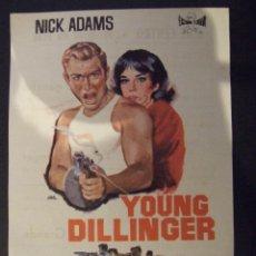 Cine: YOUNG DILLINGER - SIMPLE CON PUBLICIDAD CINE CENTRO MALGRAT DE MAR - PERFECTO. Lote 183080675
