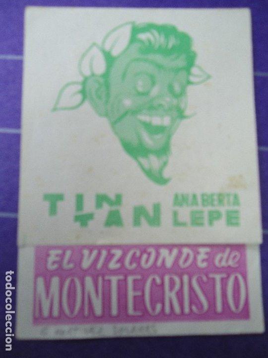 EL VIZCONDE DE MONTECRISTO 1958 CON PUBLICIDAD CINE METROPOL DE SANTIAGO DE COMPOSTELA +CONSERVADO (Cine - Folletos de Mano - Comedia)