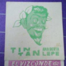Cine: EL VIZCONDE DE MONTECRISTO 1958 CON PUBLICIDAD CINE METROPOL DE SANTIAGO DE COMPOSTELA +CONSERVADO. Lote 183174745