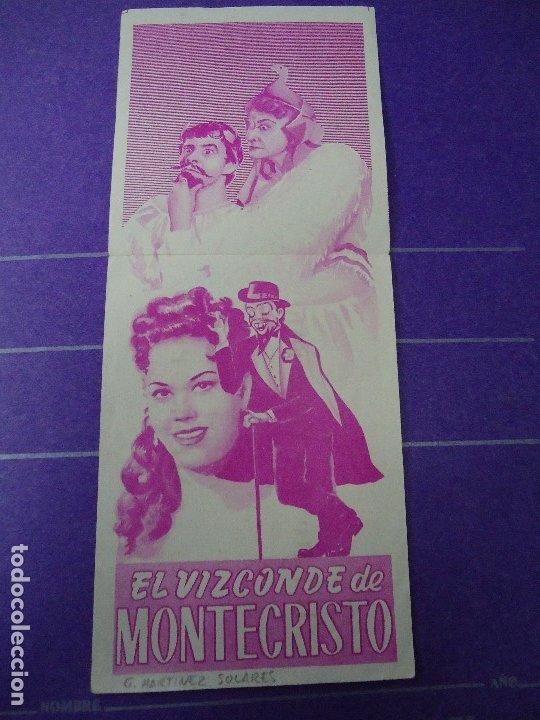 Cine: EL VIZCONDE DE MONTECRISTO 1958 CON PUBLICIDAD CINE METROPOL DE SANTIAGO DE COMPOSTELA +conservado - Foto 2 - 183174745