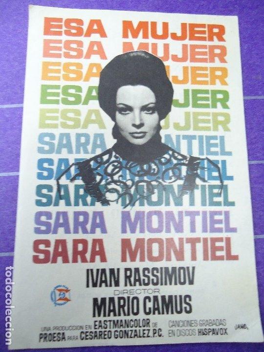 ESA MUJER 1965 PUBLICIDAD CINE GLORIA SARA MONTIEL, IVAN RASSIMOV, HUGO BLANCO, WILLIAM LAYTON, CÁND (Cine - Folletos de Mano - Drama)