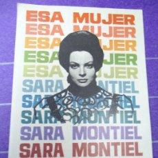Cine: ESA MUJER 1965 PUBLICIDAD CINE GLORIA SARA MONTIEL, IVAN RASSIMOV, HUGO BLANCO, WILLIAM LAYTON, CÁND. Lote 183179412