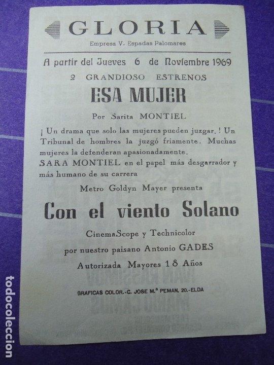 Cine: ESA MUJER 1965 PUBLICIDAD CINE GLORIA Sara Montiel, Ivan Rassimov, Hugo Blanco, William Layton, Cánd - Foto 2 - 183179412