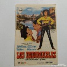 Cine: PROGRAMA DE MANO AÑOS 60 LOS INDOMABLES, BARBARA STANWICK, SCOTT BRADY, BARRY SULLIVAN, MARY MURPHY. Lote 183191872