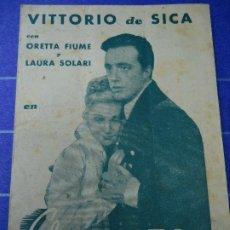Cine: EL CORREO DE NAPOLEÓN 1938 CON PUBLICIDAD DEL CINEMA GOYA VITTORIO DE SICA, ORETTA FIUME PIE LA REIN. Lote 183289658