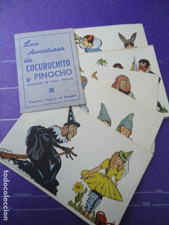 LAS AVENTURAS DE CUCURUCHITO Y PINOCHO PROGRAMA COMPLETO DOBLE + 5 SENCILLOS COMPLETO (Cine - Folletos de Mano - Infantil)