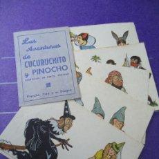 Cine: LAS AVENTURAS DE CUCURUCHITO Y PINOCHO PROGRAMA COMPLETO DOBLE + 5 SENCILLOS COMPLETO . Lote 183300038