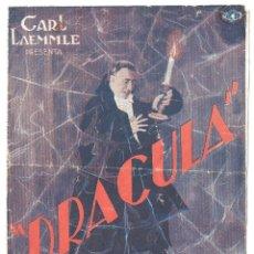 Cine: PTEB 067 DRACULA PROGRAMA DOBLE UNIVERSAL CARLOS VILLARIAS LUPITA TOVAR. Lote 183413208