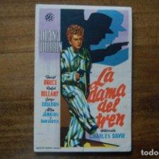 Cine: LA DAMA DEL TREN, -IDEAL CINEMA- (ELDA), JUNIO 1946. Lote 183413332