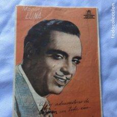 Cine: TORBELLINO MANUEL LUNA TEATRO CERVANTES GRANADA. Lote 183426683