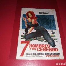 Cine: 7 HOMBRES Y UN CEREBRO. AÑO 1965.. Lote 183504426