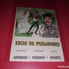 Cine: ESOS DE PENJAMO. PUBLICIDAD DEL CINE AL DORSO. AÑO 1953. Lote 183506521