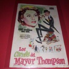 Cine: LOS CARNETS DEL MAYOR THOMPSON. PUBLICIDAD DEL CINE AL DORSO. AÑO 1955. Lote 183506737