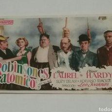Cine: FOLLETO DE MANO. ROBINSONES ATOMICOS.STAN LAUREL & OLIVER HARDY.TEATRO DIVINO ARGUELLES-RIBADESELLA.. Lote 183526200