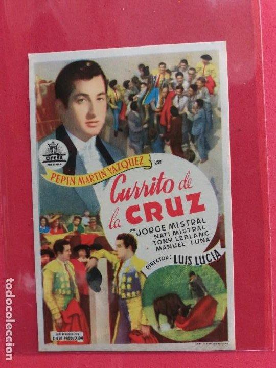 CURRITO DE LA CRUZ-1949-SIN PUBLICIDAD (Cine - Folletos de Mano - Clásico Español)