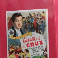 Cine: CURRITO DE LA CRUZ-1949-SIN PUBLICIDAD. Lote 183572873
