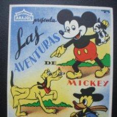 Cine: LAS AVENTURAS DE MICKEY, PLUTO Y PATO DONALD, DISNEY. Lote 183585521