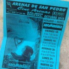 Cine: ABOMINABLE - FOLLETO DE MANO - CINE ARENAS DE SAN PEDRO - AVILA - 2019. Lote 183646267