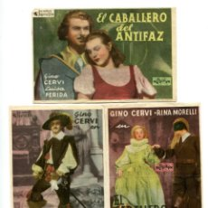 Cine: EL CABALLERO DEL ANTIFAZ, CON GINO CERVI.. Lote 183693403