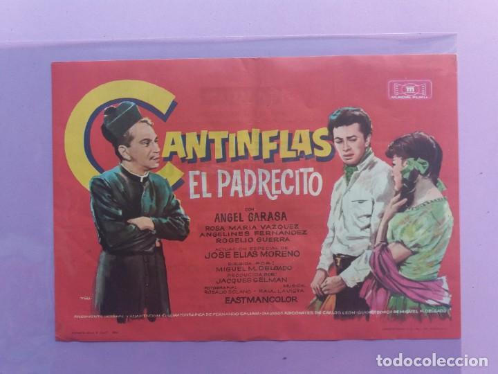 CANTINFLAS-EL PADRECITO-1954-21 X 14-CON PUBLICIDAD AL DORSO (Cine - Folletos de Mano - Comedia)