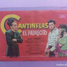 Cine: CANTINFLAS-EL PADRECITO-1954-21 X 14-CON PUBLICIDAD AL DORSO. Lote 183702572