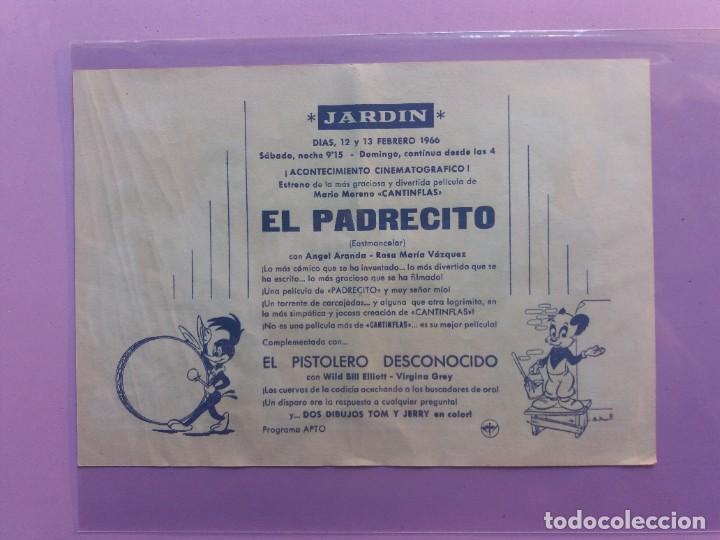 Cine: CANTINFLAS-EL PADRECITO-1954-21 x 14-CON PUBLICIDAD AL DORSO - Foto 2 - 183702572