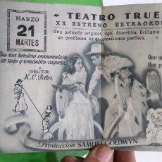 Cine: EL VAQUERO Y LA DAMA - TEATRO TRUEBA - GARY COOPER. Lote 183725002