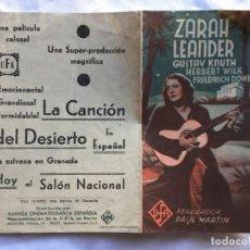 Cine: LA CANCIÓN DEL DESIERTO SALÓN NACIONAL. Lote 183735992