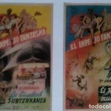 Cine: 2 PROGRAMAS IMPERIO FANTASMA EN JORNADAS - ORIGINALES. Lote 183739651